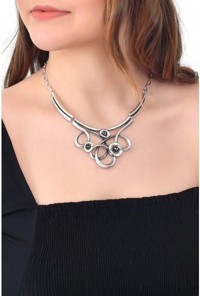 Labalaba Lbkdnagkkly5054 Kadın Antik Gümüş Kaplama Bohem Kolye