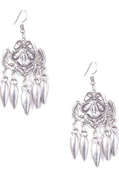 Labalaba Lbkdnagkkp8027 Kadın Antik Gümüş Kaplama Küpe