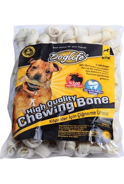 Doglife Sütlü Düğümlü Kemik Beyaz 18-20 Gr 50 Adet