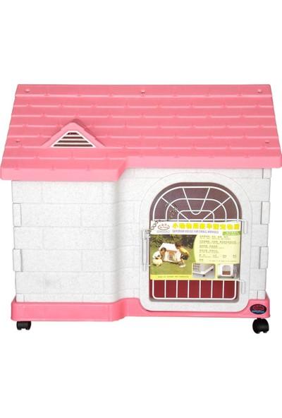 Dayang Kedi Köpek Kulübesi Pembe