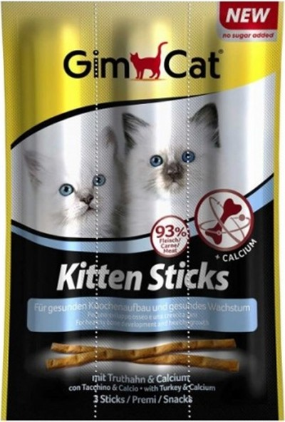 Gimcat Sticks Kitten Hindili Yavru Kedi Ödül Çubukları 3x3gr