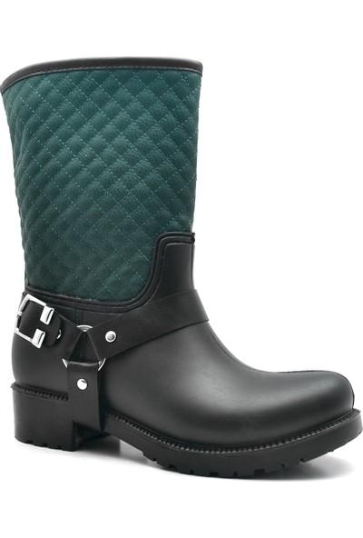 Ahs Collection Waterproof Yeşil Kadın Yağmur Çizmesi