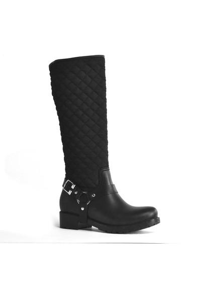 Ahs Collection Fermuarlı Waterproof Kadın Yağmur Çizmesi