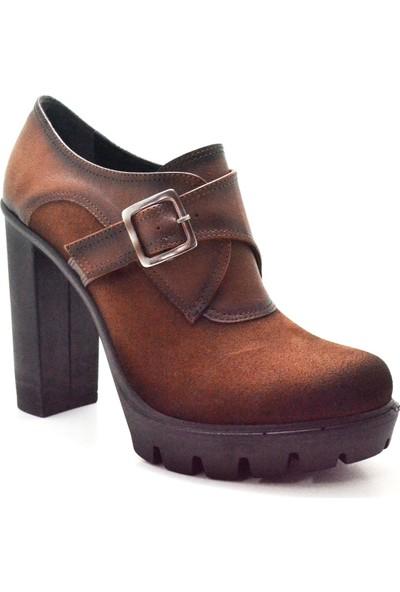 Sanita Taba 11 cm Platform Yüksek Topuklu Kadın Ayakkabı