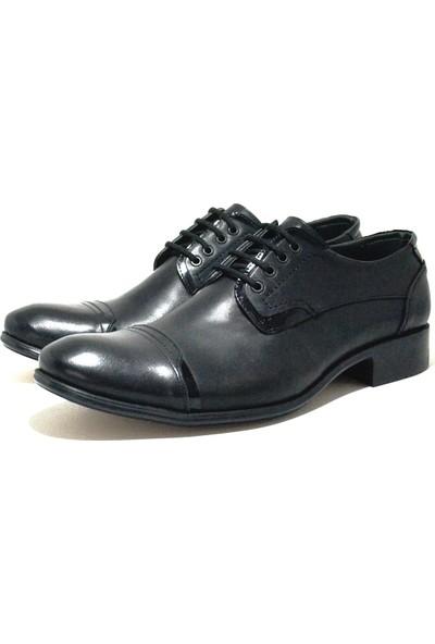 Özsoylu Hakiki Deri Siyah Fantazi Büyük Numara Erkek Ayakkabı