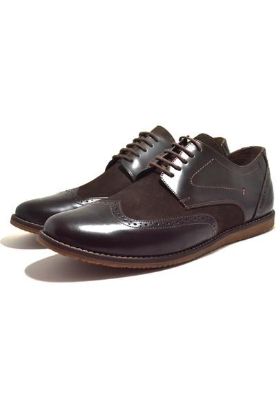 Tardelli Hakiki Deri Kahve Büyük Numara Klasik Erkek Ayakkabı