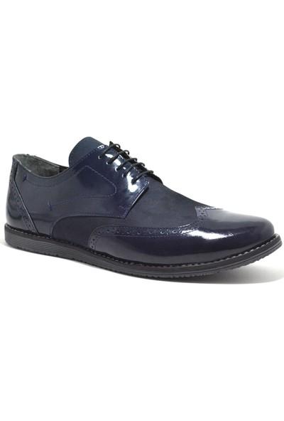 Tardelli Hakiki Deri Lacivert Büyük Numara Klasik Erkek Ayakkabı