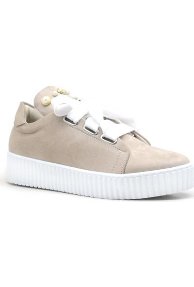 Alya Süet Kalın Bağcıklı Yüksek Taban Casual Kadın Sneaker