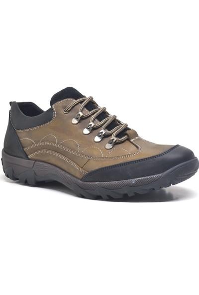 Dropland Kum Rengi Hakiki Deri Kışlık Erkek Trekking Ayakkabısı