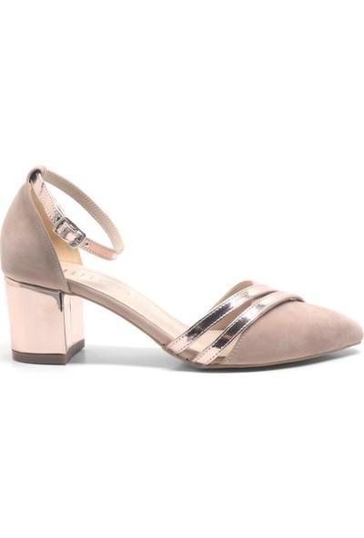Allina Sivri Burun Kalın Topuk Kadın Ayakkabı