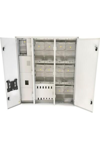 Ak-Öz Sıva Altı 10 Trifaze Sayaçlı Elektrik Panosu Polikarbon Kapaklı