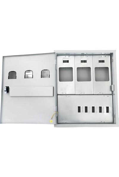 Ak-Öz Sıva Altı 3 Monofaze Sayaçlı Elektrik Panosu