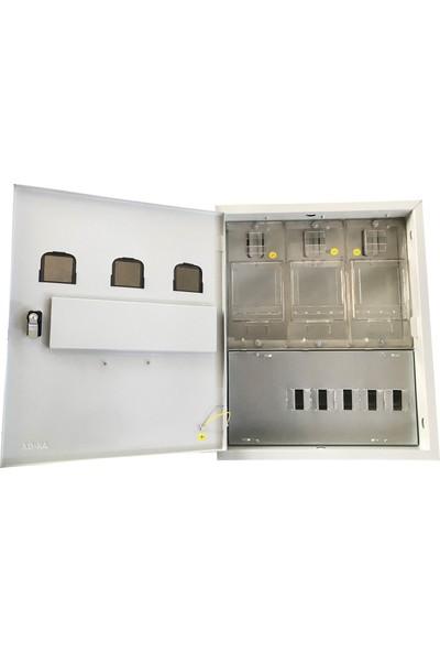 Ak-Öz Sıva Altı 3 Monofaze Sayaçlı Polikarbon Elektrik Panosu