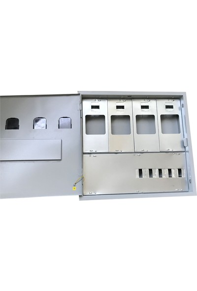 Ak-Öz Sıva Altı 4 Monofaze Sayaçlı Elektrik Panosu