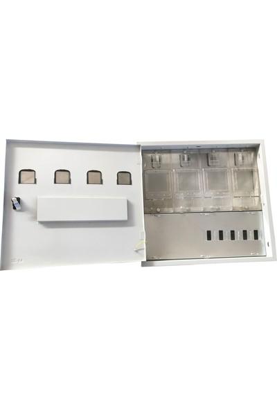 Ak-Öz Sıva Altı 4 Monofaze Sayaçlı Polikarbon Elektrik Panosu