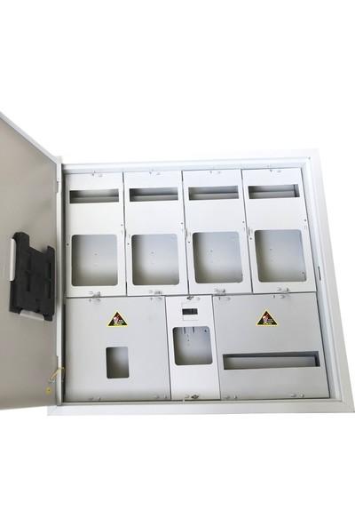 Ak-Öz Sıva Altı 4 Trifaze Sayaçlı Elektrik Panosu