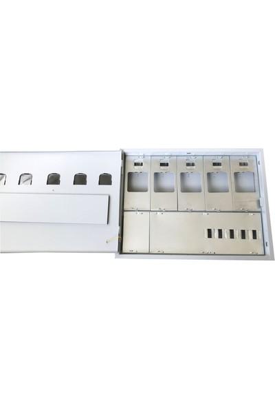 Ak-Öz Sıva Altı 5 Monofaze Sayaçlı Elektrik Panosu