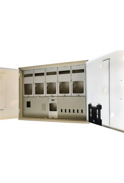 Ak-Öz Sıva Altı 5 Trifaze Sayaçlı Elektrik Panosu