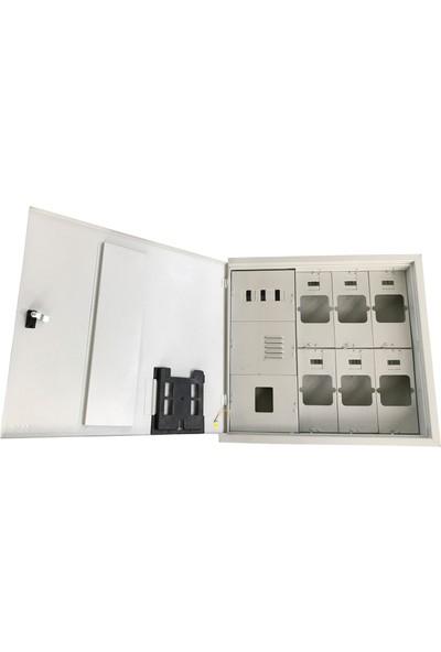 Ak-Öz Sıva Altı 6 Monofaze Sayaçlı Elektrik Panosu