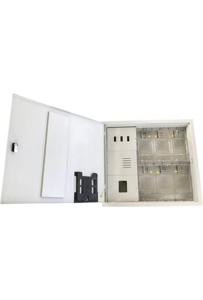 Ak-Öz Sıva Altı 6 Monofaze Sayaçlı Polikarbon Elektrik Panosu