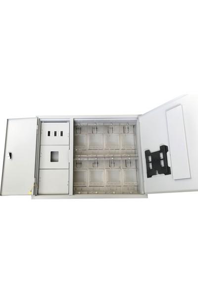 Ak-Öz Sıva Altı 8 Monofaze Sayaçlı Polikarbon Elektrik Panosu