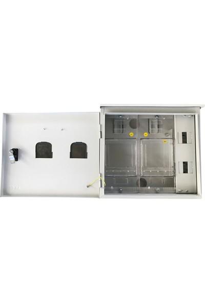 Ak-Öz Sıva Üstü 2 Monofaze Sayaçlı Polikarbon Elektrik Panosu