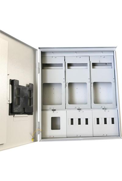 Ak-Öz Sıva Üstü 3 Trifaze Sayaçlı Elektrik Panosu