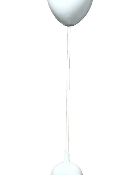Hepsiniver Home Beyaz Renk Kablolu E27 Standart Duy Avize Abajur Tesisat Kablosu
