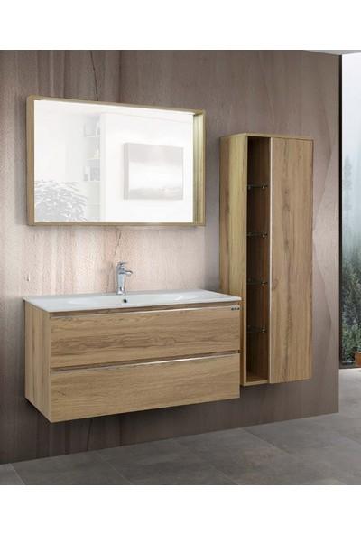 Lineart Troy 1010 100Cm Banyo Dolabı