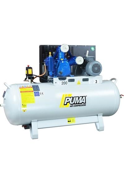Puma İtalyan Kafalı 200 Litre 3 Hp 12 Bar Pistonlu Kompresör