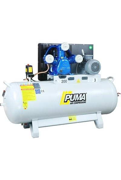 Puma İtalyan Kafalı 200 Litre 3 Hp 8 Bar Pistonlu Kompresör