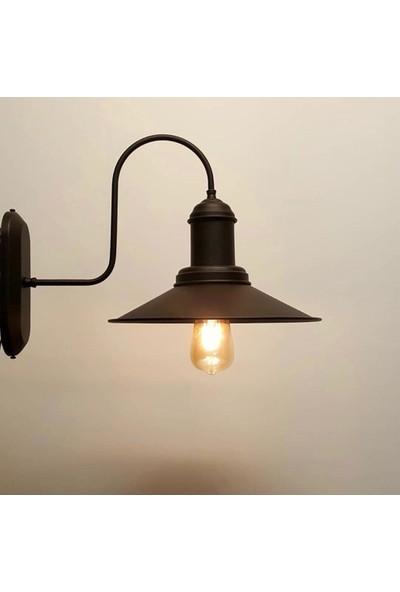 Light Home Retro Siyah Metal Sıvama Duvar Aplik