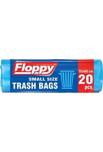 Floppy Orta Boy Çöp Torbası 55x60 20'li Rulo 6 Adet