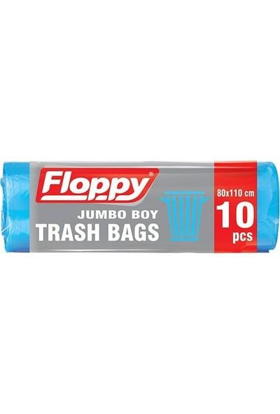 Floppy Jumbo Boy Çöp Torbası 80x110 10'lu Rulo 6 Adet