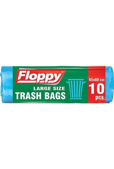 Floppy Büyük Boy Çöp Torbası 65x80 10'lu Rulo 25 Adet