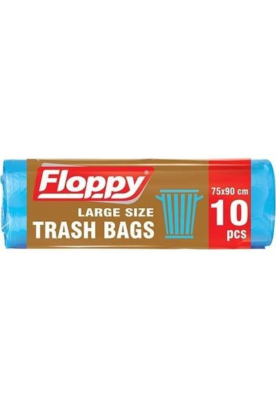 Floppy Battal Boy Çöp Torbası 75x90 10'lu Rulo 25 Adet