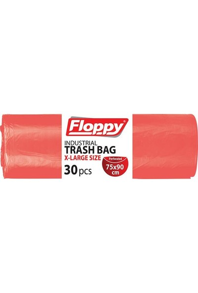 Floppy Endüstriyel Çöp Torbası 75x90 30'lu Rulo 8 Adet