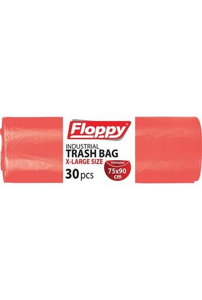 Floppy Endüstriyel Çöp Torbası 75x90 30'lu Rulo
