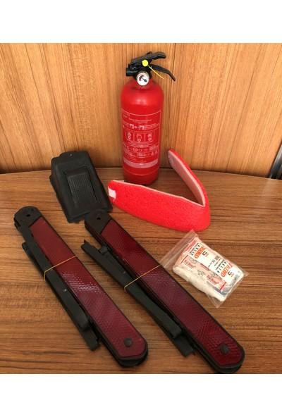 Fesanotomotiv Tüvtürk Onaylı Trafik Seti 1 Kg Yangın Söndürücü Çift Reflektörlü