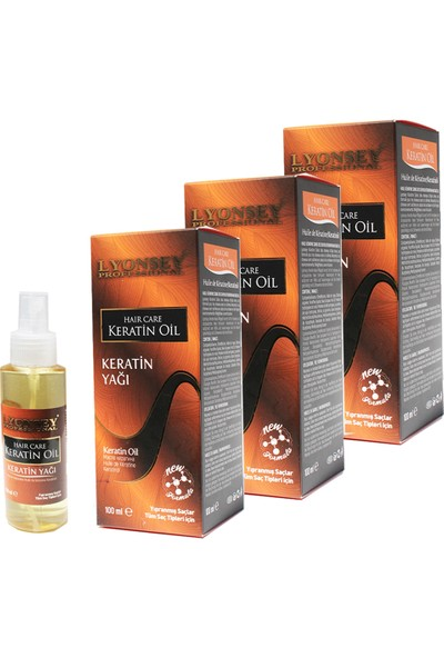 Lyonsey Professional Keratin Saç Bakım Yağı