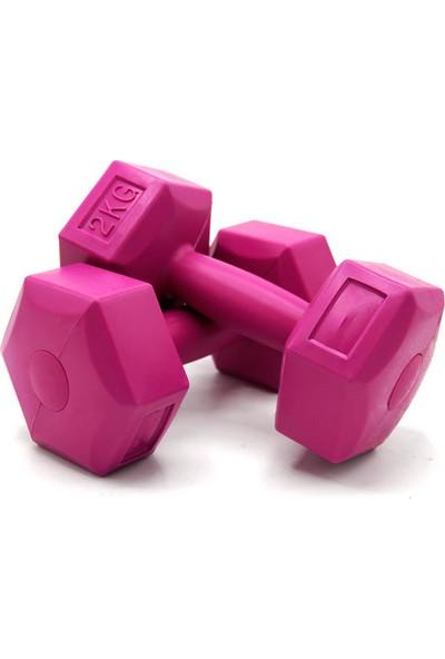 Ecgspor 2kg Dambıl Seti 2kg x 2 Adet Toplam 4kg Fuşya