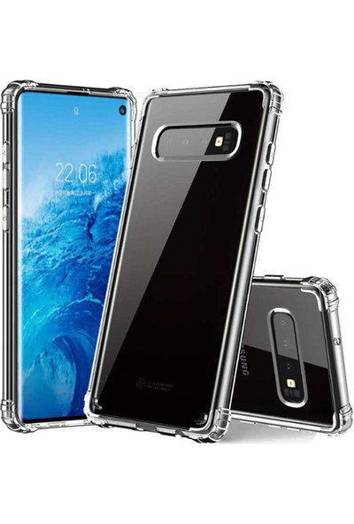 Case 4U Samsung Galaxy S10e Kılıf Antishock Arka Kapak Şeffaf