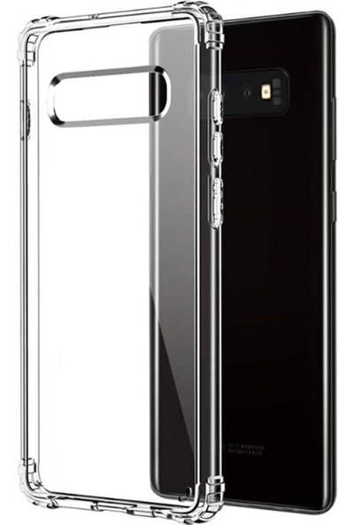 Case 4U Samsung Galaxy S10 Plus Darbe Emici Silikon Kılıf Şeffaf