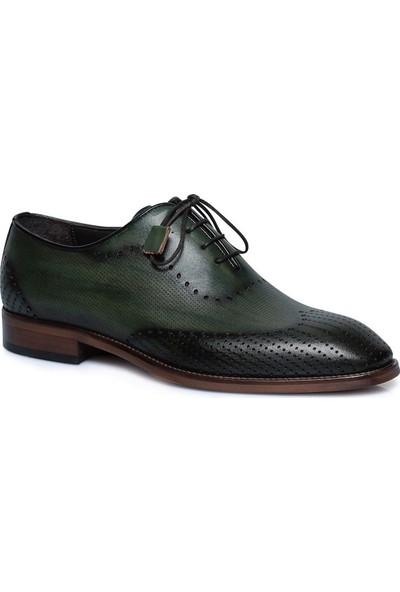 Buenza Hakiki Deri Yesil Erkek Ayakkabı