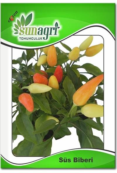 Sunagri Sarı Topak Süs Biberi Acı Biber Tohumu Turşuluk (5 Gr.)