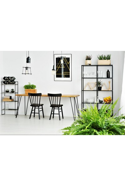 222 Concept Masif Ağaç Tik Renk 140x70x3 cm Yemek Masası