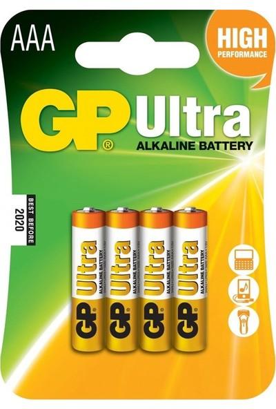 GP Batteries Ultra Alkalin AAA Kumanda Pili 4 Adet