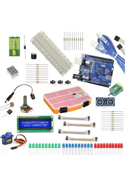 Robocombo Arduino Başlangıç Seti Klon Arduino Uno R3 CH340 Çip
