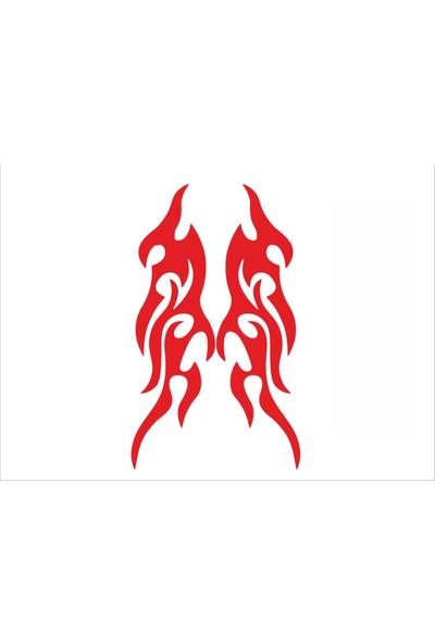 Stickermarket Alevli Kırmızı Sticker