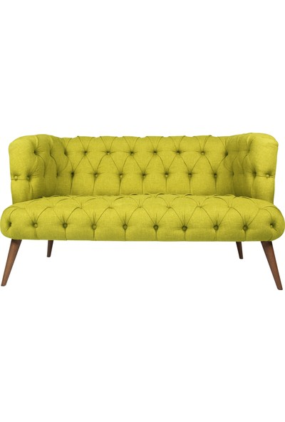 Ze10 Design West Monroe Loveseat İkili Kanape Fıstık Yeşili